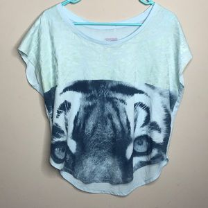 [Nike] Light Blue Leopard T-Shirt